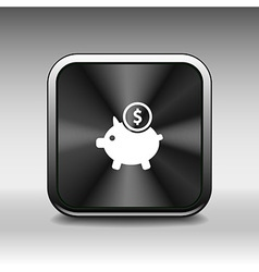 Piggy icon bank economy coin money piggy account s vector