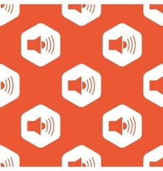 Orange hexagon loudspeaker pattern vector