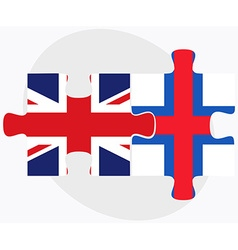 United kingdom and faroe islands flags vector