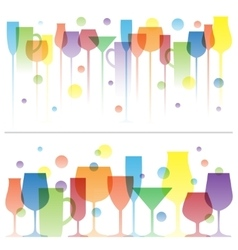 Abstract colorful of wine drink vector