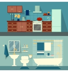 Flat for rooms of apartment vector