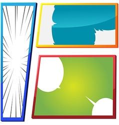 Cartoon Comic Frame Template Color vector image