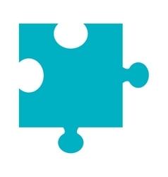 Blue puzzle piece graphic vector