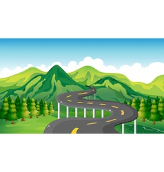 A narrow road vector image