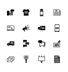 advertisement - flat icons vector image vector image