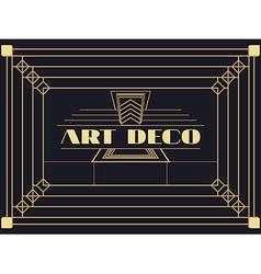 Art deco geometric vintage frame vector