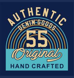 Authentic denim goods vector