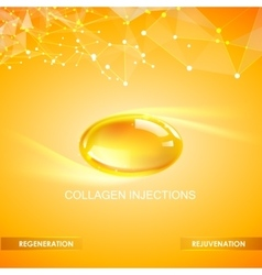 Collagen natural product vector