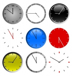 color wall clock vector image vector image