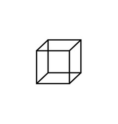 cube icon vector image vector image
