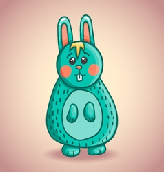 Cute cartoon bunny 2 vector image vector image