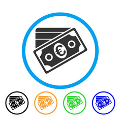 euro money credit card rounded icon vector image