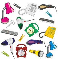 everyday items vector image