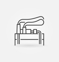 Geothermal energy icon vector