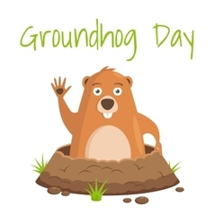 Groundhog Day celebratory background vector image