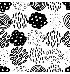 Hand drawn circles and dots seamless vector