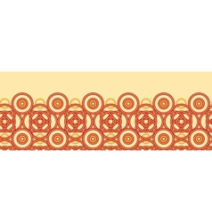 Magical celtic circles horizontal seamless pattern vector