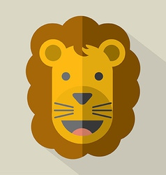 Modern flat design lion icon vector