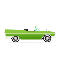 Old school car flat vector