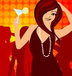 party girl vector image vector image