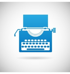 Retro vintage creativity symbol typewriter icon vector