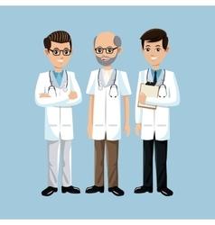Set doctors group medical vector