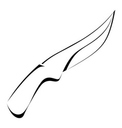 Silhouette of a knife on a white background vector image vector image