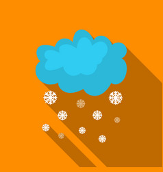 snowfall icon in flate style isolated on white vector image vector image