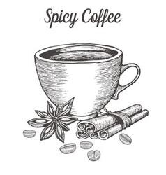 Spicy Coffee vector image