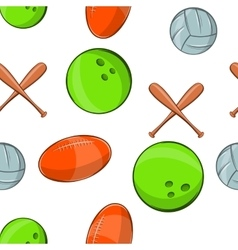 Sports stuff pattern cartoon style vector image