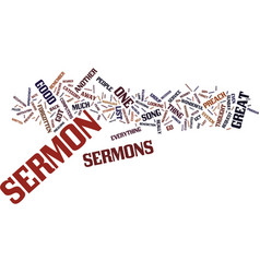 The one great sermon that got away text vector