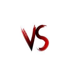 vs versus letters vector image