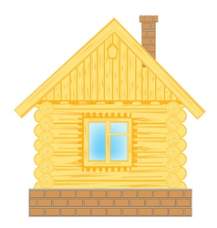 Wooden lodge on white vector image