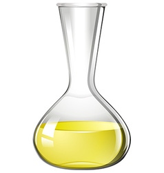 Yellow liquid in glass beaker vector image vector image