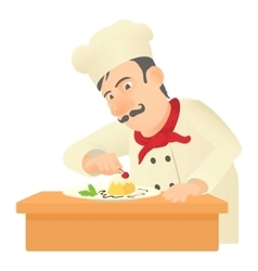Pastry chef icon cartoon style vector