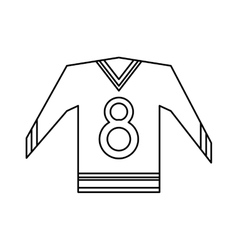 Canadian jersey hockey ice graphic outline vector