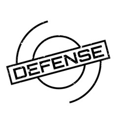 Defense rubber stamp vector