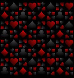 Seamless casino gambling background vector