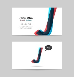 Business card template - letter j vector