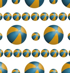 Summer background with beach balls vector