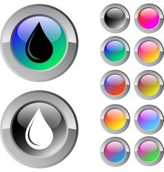 Drop multicolor round button vector image