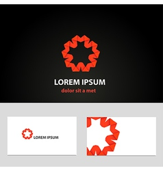 Abstract logo design template with business card vector image