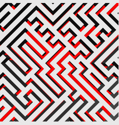 aerial view of 3d maze labyrinth with red ground vector image
