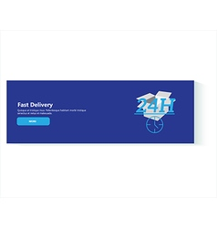 banner fast delivery vector image vector image