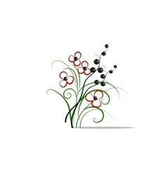 Beautiful isolated red flowers vector image vector image