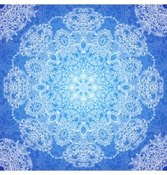 Blue lacy vintage seamless pattern tile vector image
