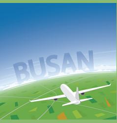 Busan flight destination vector