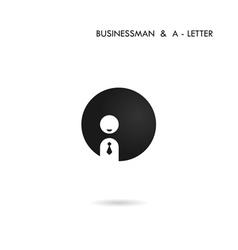 Businessman Icon Logo Man Icon Logo vector image vector image