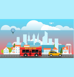 City travelling concept vector