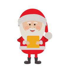 colorful silhouette of santa claus with package vector image
